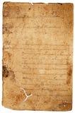 Vieja carta de papel desgastada Fotografía de archivo libre de regalías