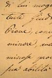 Vieja carta manuscrita Fotos de archivo libres de regalías