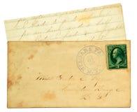 Vieja carta personal. Fotografía de archivo