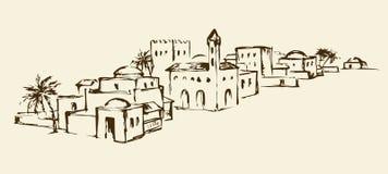 Vieja ciudad del Este Gráfico del vector ilustración del vector