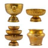 Vieja colección antigua del oro de la vendimia Fotografía de archivo libre de regalías
