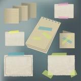 Vieja colección de papel del estilo Foto de archivo libre de regalías