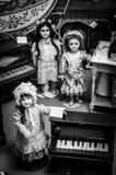 Vieja colección privada de las muñecas Imagen de archivo libre de regalías