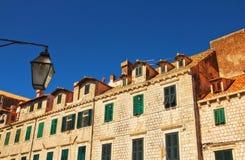 Vieja configuración de la ciudad de Dubrovnik Foto de archivo