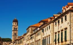 Vieja configuración de la ciudad de Dubrovnik fotos de archivo libres de regalías