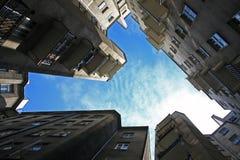 Vieja configuración en Varsovia fotos de archivo