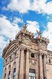 Vieja construcción de las aduanas construida en Barcelona Fotos de archivo libres de regalías