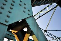 Vieja construcción de puente Imágenes de archivo libres de regalías