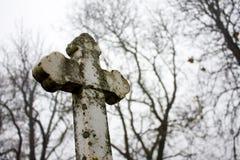 Vieja cruz blanca Imagen de archivo libre de regalías
