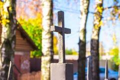 Vieja cruz de la iglesia foto de archivo libre de regalías