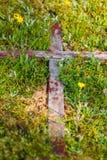 Vieja cruz de madera Fotografía de archivo