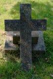 Vieja cruz de piedra Imágenes de archivo libres de regalías