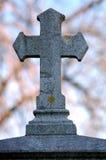 Vieja cruz en piedra foto de archivo libre de regalías