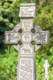 Vieja cruz irlandesa del cementerio Imagenes de archivo