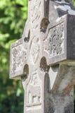 Vieja cruz irlandesa del cementerio Imágenes de archivo libres de regalías
