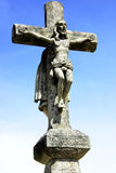 Vieja cruz, y Cristo en cielo. Imágenes de archivo libres de regalías