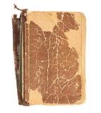 Vieja cubierta de libro decrépita Fotografía de archivo
