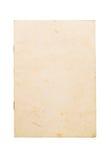 Vieja cubierta en blanco del cuaderno Fotos de archivo