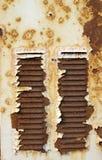 Vieja cubierta oxidada del rectángulo de distribución eléctrico Foto de archivo libre de regalías