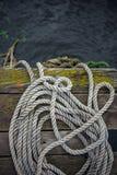 Vieja cuerda de la nave Fotografía de archivo