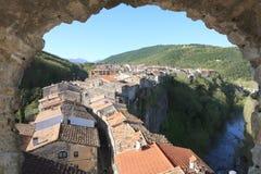 Vieja Edad Media de la aldea Foto de archivo