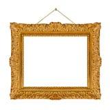 Vieja ejecución de madera del marco en una cuerda Imagen de archivo libre de regalías