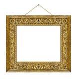 Vieja ejecución de madera del marco en una cuerda Imagen de archivo