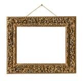 Vieja ejecución de madera del marco en una cuerda Foto de archivo libre de regalías