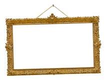 Vieja ejecución de madera del marco en una cuerda Fotografía de archivo libre de regalías