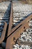 Vieja ensambladura del ferrocarril Imagenes de archivo