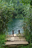Vieja entrada al río Fotografía de archivo