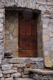Vieja entrada de la casa en Bulgaria Fotografía de archivo libre de regalías
