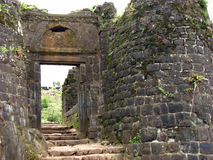 Vieja entrada de la fortaleza Imagen de archivo libre de regalías