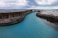 Vieja entrada del puerto en la isla del paraíso, Bahamas Imágenes de archivo libres de regalías