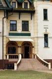 Vieja entrada Palic Subotica Serbia del edificio imagenes de archivo