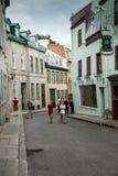 Vieja escena de la calle de Quebec Imagenes de archivo
