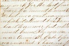 Vieja escritura Fotografía de archivo libre de regalías