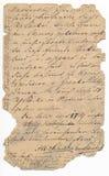 Vieja escritura alemana - circa 1881 Fotografía de archivo