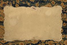 Vieja escritura de la etiqueta Imagen de archivo libre de regalías