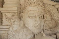 Vieja escultura principal Fotos de archivo