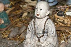 Vieja escultura principal Imágenes de archivo libres de regalías