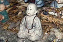 Vieja escultura principal Foto de archivo libre de regalías