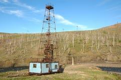 Vieja estación de la perforación (Siberia del norte) Fotos de archivo