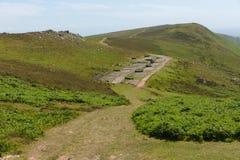 Vieja estación de radar averiada Rhossili abajo de Gower Wales Reino Unido Fotografía de archivo libre de regalías