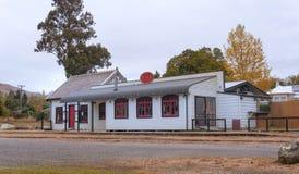 Vieja estación de tren histórica de Kingston cerca de Queenstown foto de archivo