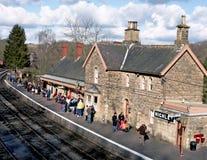 Vieja estación de tren rural imagen de archivo