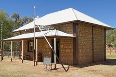 Vieja estación del telégrafo, Alice Springs, Australia fotos de archivo