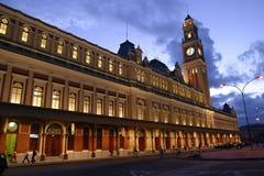 Vieja estación en Sao Paulo, el Brasil Imagen de archivo
