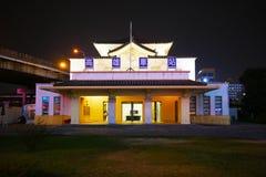 Vieja estación japonesa de Gaoxiong de la era en el nigth Fotos de archivo