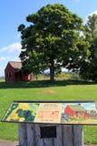 Vieja estructura y exhibición audio, campo de batalla de Saratoga, septiembre de 2014 Imagen de archivo libre de regalías